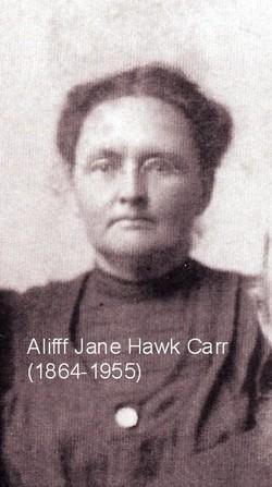 Aliff Jane <I>Hawk</I> Carr