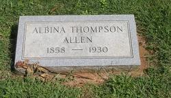 Albina <I>Thompson</I> Allen