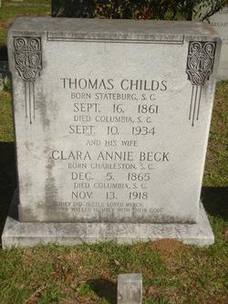 Clara Annie <I>Beck</I> Childs