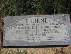 Elizabeth <I>Reeves</I> Thorne