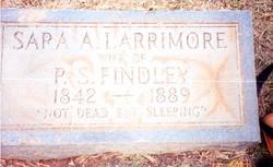 Sara Ann <I>Larrimore</I> Findley