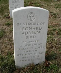 1LT Leonard Adrian Bird