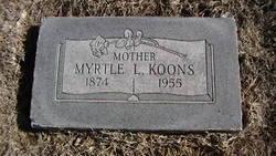 Myrtle L <I>Lumpkins</I> Koons