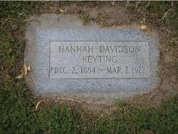 Hannah <I>Davidson</I> Keyting