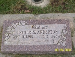 Esther S. <I>Sundquist</I> Anderson