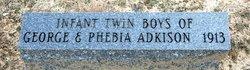 Infant Twin Boys Adkison