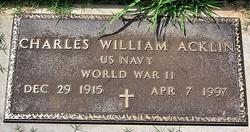 """Charles William """"Bill"""" Acklin"""