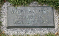 Janet <I>Powell</I> Alston
