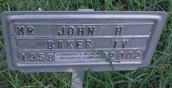 """John Henry """"Hank"""" Baker, IV"""