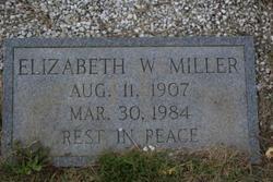 Elizabeth W Miller