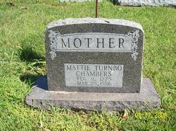 "Martha Ellen ""Mattie"" <I>Taylor</I> Chambers"