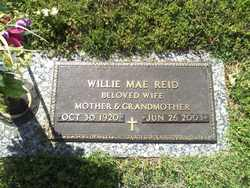 Willie Mae <I>Wright</I> Reid
