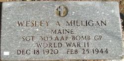 Sgt Wesley A Milligan