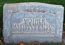 Mary Ann <I>Swingewood</I> Watson