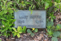 Mary Maria Jane <I>Whitmire</I> Brown
