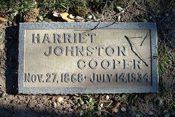 Harriet <I>Johnston</I> Cooper