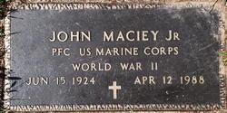 Pvt John Maciey, Jr