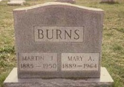 "Mary A ""Mollie"" <I>Brennan</I> Burns"