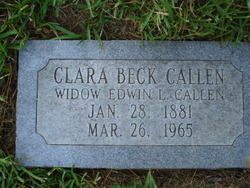 Clara Bell <I>Beck</I> Callen