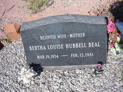 Bertha Louise <I>Hubbell</I> Beal
