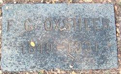 """Fountain Goodlet """"F.G."""" Oxsheer, Sr"""