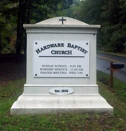 Hardware Baptist Church Cemetery