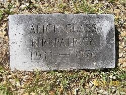 Alice Maffett <I>Glass</I> Kirkpatrick