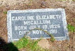 Caroline Elizabeth <I>McCallum</I> Buie