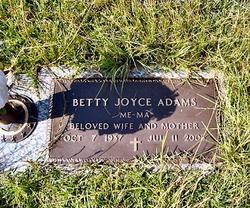 Betty Joyce <I>Strobel</I> Adams