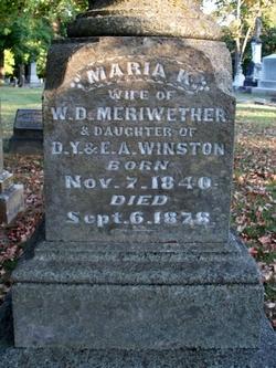 Maria Kimbrough <I>Winston</I> Meriwether