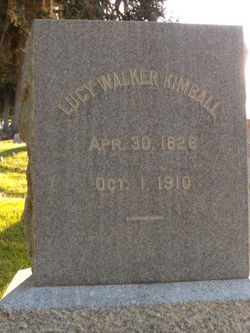 Lucy <I>Walker</I> Kimball
