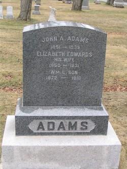"""Elizabeth """"Lizzie"""" <I>Edwards</I> Adams"""