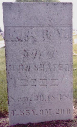 "Mary ""Polly"" <I>Putman</I> Shafer"