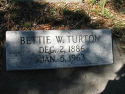 Bettie <I>Wright</I> Turton