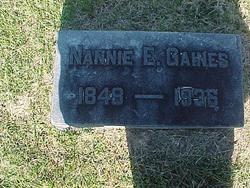 Nannie E <I>Berkshire</I> Gaines