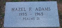 Hazel F. Adams