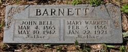 Mary <I>Warren</I> Barnett