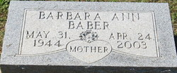 Barbara Ann <I>Clayton</I> Baber