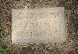 Elizabeth <I>McKindley</I> Adams