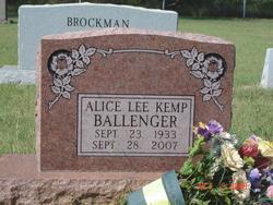Alice Lee <I>Kemp</I> Ballenger