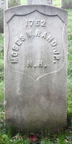 Pvt Moses Wentworth Rand, Jr