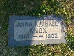 Anna Spaulding <I>Kimball</I> Knox