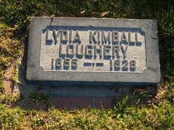 Lydia Holmes <I>Kimball</I> Loughery