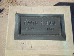"Martha Myrtle ""Mattie"" <I>Barker</I> Hall"