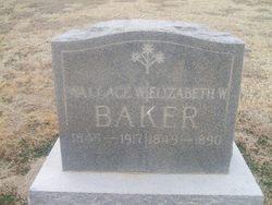 """Elizabeth Beasley """"Eliza"""" <I>Withers</I> Baker"""