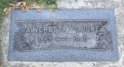 Alveretta Francis <I>Carlos</I> Bone