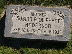 Sabina Augusta <I>Oliphant</I> Anderson