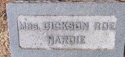 Mrs Martha Dickson <I>Roe</I> Hardie