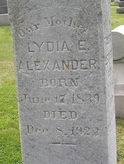 Lydia E. <I>Smith</I> Alexander