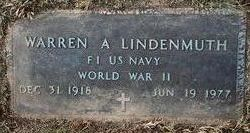 Warren A Lindenmuth